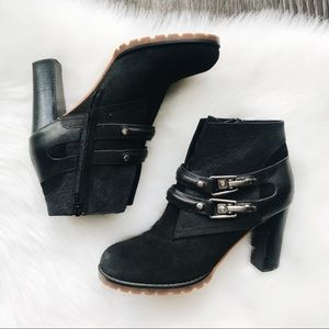 See by Chloé Nubuck Heeled Ankle Boots 38